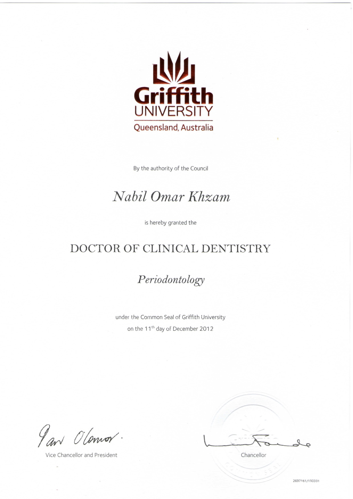 Doctor clinical dentistry periodontology